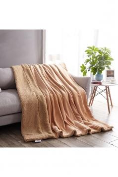 Sofa Nap Blanket Two Sides Different Colors Throw Blanket Khaki