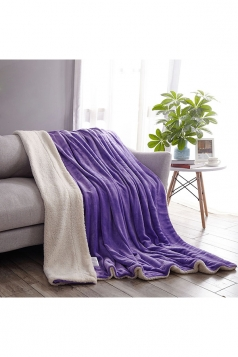 Sofa Nap Blanket Two Sides Different Colors Throw Blanket Purple