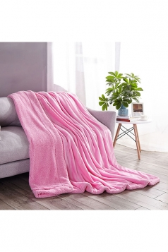 Sofa Nap Blanket Two Sides Different Colors Throw Blanket Pink