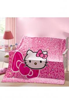 Hello Kitty Sofa Nap Blanket Flannel Throw Blanket Pink