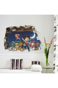 Paw Patrol Ryder Rubble Breakthrough Wall Decals 3D Stickers Blue