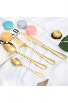 4Pcs Luxury Stainless Steel Flatware Set Gold