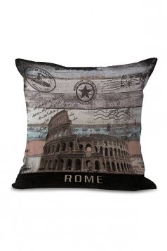 Colosseum Printed Decorative Throw Pillow Case Gray 18x18in