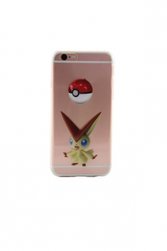 Brown Stylish Pokemon Printed Transparent Soft Case for iPhone