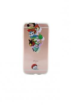 Multicolour Stylish Pokemon Transparent Soft Case for iPhone