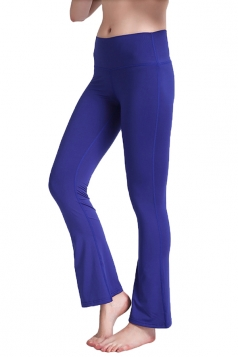 Womens Close-Fitting High Waisted Wide Leg Bell Pants Sapphire Blue