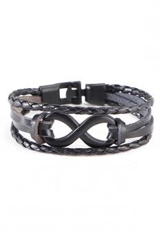 Black Unisex Vintage Crafts Hand Multi Layers Bracelets