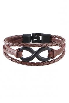 Brown Unisex Vintage Crafts Hand Multi Layers Bracelets