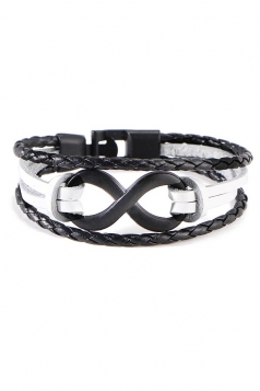 White Unisex Vintage Crafts Hand Multi Layers Bracelets