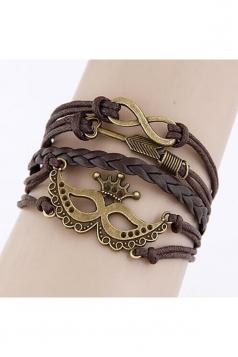 Brown Trendy Crown Design Crafts Hand Multi Layers Bracelets