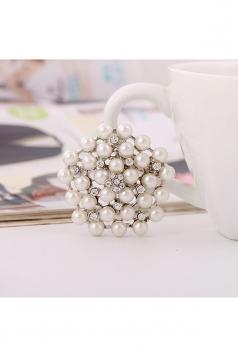 Silvery Wedding Evening Gift Fashion Luxurious Flower Pearl Brooch
