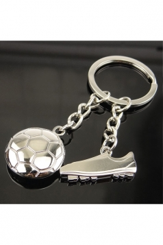White Metal Stainless Steel Football Boots Pendant World Cup Keyring