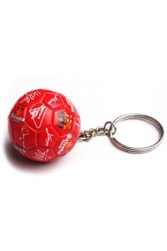 Red International Print Football Pendant World Cup Keychain