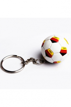 White International Print Football Pendant World Cup Keychain