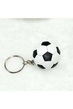 Black And White Souvenir Collection Plastic Football Pendant Keychain