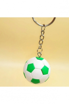 Green Souvenir Collection Plastic Football Pendant Keychain