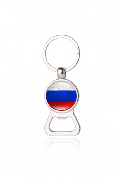 Red Souvenir Russia Flag Bottle Opener World Cup Football Keyring