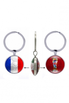 Fans Gift Double Side France Flag World Cup Trophy Football Keyring