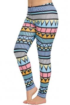 Plus Size Geometric Print Yoga Sports Leggings Ginger