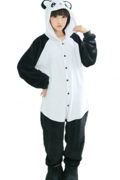 Black Fashion Womens Panda Pajamas Halloween Jumpsuit Costume