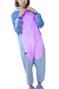 Blue Cute Flannel Womens Pajamas Eeyore Donkey Jumpsuit Costume