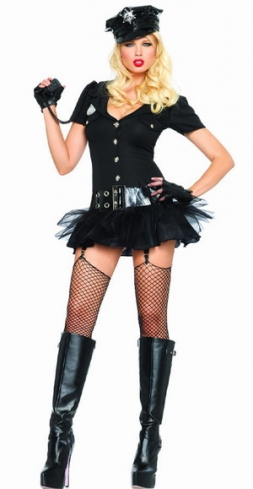 Officer Bombshell Sexy Holiday Party Cops Costume