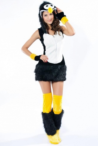 Womens Deluxe Penguin Halloween Costume