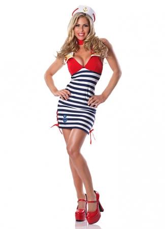 Womens Sassy Sailor Girl Halloween Costume