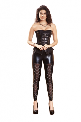 Black Sexy Ladies Rivet Slim Leather Corset