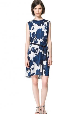 Strapless Floral Print Tank Dress