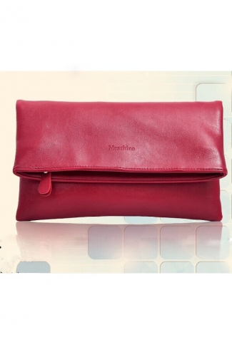 Cool Solid Color Folding Handbag for Women