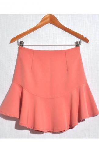 Pink Stylish Ladies Ruffle Pretty Pleated Skirt