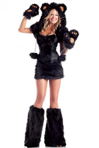 Black Bear Womens Halloween Animal Costume