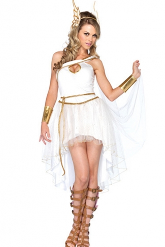 White Womens Greek Goddess Fancy Halloween Costume