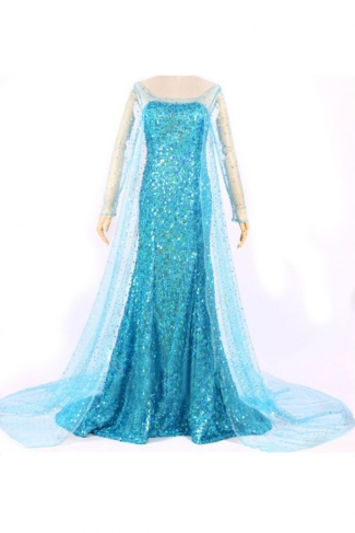 Womens Frozen Elsa Halloween Costume Turquoise