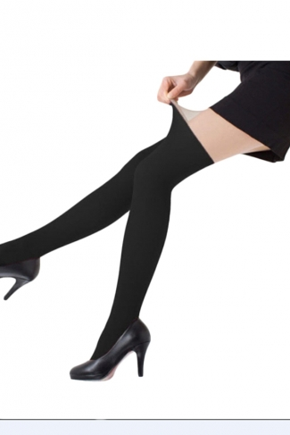 Black Sexy Womens Winter Patchwork Tights