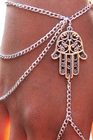 Silvery Charming Ladies Finger Citron Fringe Bracelet