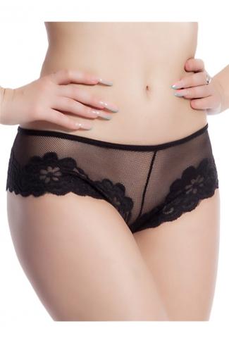 Black Mesh See Through Sexy Womens Panty