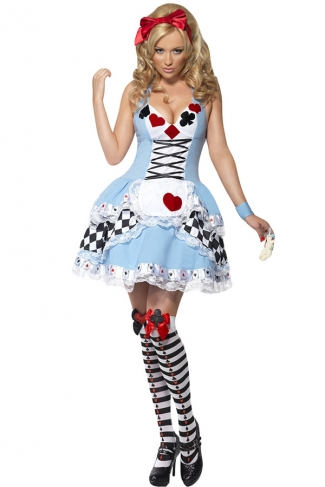 Blue Adult Poker Style Fairytale Costume