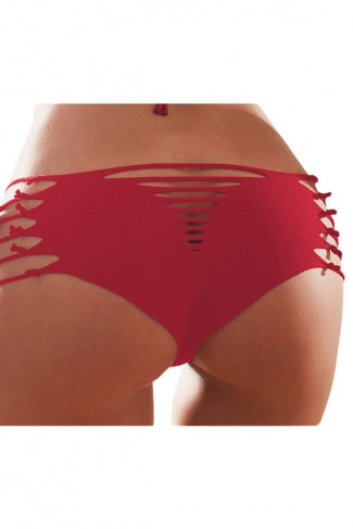 Ruby Heart Pattern Bandage Sexy Chic Womens Swimsuit Bottom