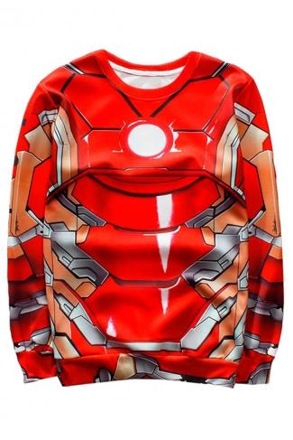 Red Iron Printed Crew Neck Pretty Ladies Sweatshirt