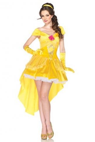 Womens Beauty Disney Beast's Princess Belle Fairytale Costume Yellow