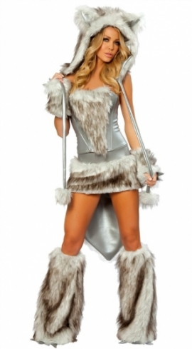Womens Sexy Big Bad Wolf Halloween Costume