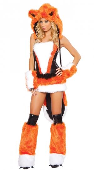 Womens Sexy Cheshire  Fox Adult Halloween Costume Orange