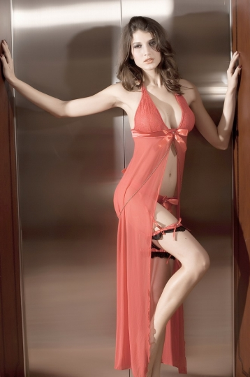 Orange Founder Valentine Gown Baby Doll Babydoll Lingerie