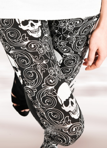 Fashion Skeleton Print Legging