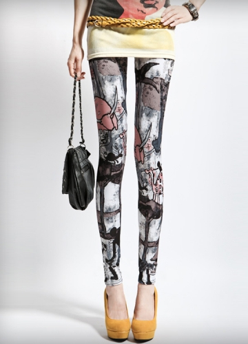 Womens Tribal Pattern Cute Leggings