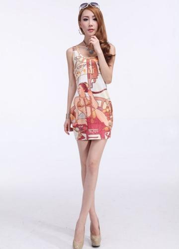 Lady Print Sundress