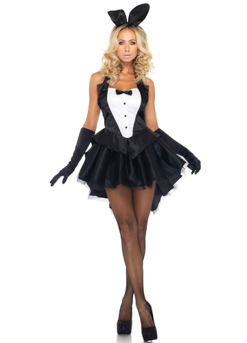 Womens Sexy Bunny Tux Halloween Costume