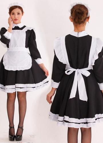 Girls Long Sleeve French Maid Costume